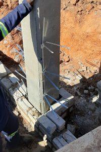 Bond Lug Site Application Example - Concrete